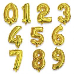 BALÓNEK fóliový 86cm - zlatá